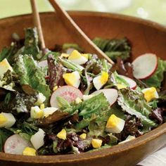 Mixed Lettuce Salad with Cucumber Herb Vinaigrette  | KitchenDaily.com