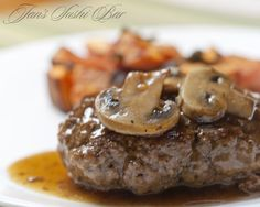 Salisbury Steak by @JansSushiBar #AIPaleo