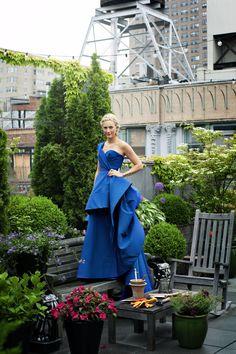 Veronica Swanson Beard's Manhattan Penthouse features a lush green rooftop garden.