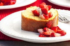 Strawberry roulade recipe, NZ Womans Weekly – Your family will love this yummy dessert The passionfruit and strawberry flavours make a fruity and fresh combination - Eat Well (formerly Bite) Roulade Recipe, Holiday Recipes, Delicious Desserts, Cheesecake, Rolls, Strawberry, Vegetarian, Dishes, Baking