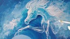 Blue Horse, Poems Beautiful, Knife Art, Equine Art, Horse Art, Blue Bird, Gabriel, Waves, Horses