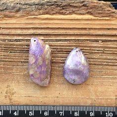 Чароит кулон подвеска кабошон гладкие камни для украшений. Handmade.
