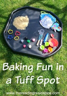 Baking fun in a tuff spot, takes moments to set up, entertains for ages! Baking fun in a tuff spot, takes moments to set up, entertains for ages! Nursery Activities, Indoor Activities, Fun Activities For Kids, Sensory Activities, Motor Activities, Preschool Activities, Tuff Spot, Sensory Bins, Sensory Play