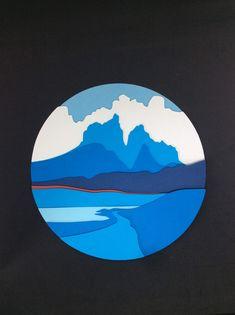 Lindo cuadro de Torres del Paine