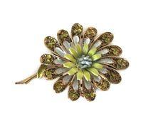 Vintage Flower Brooch 1960's Capri Flower by BroochesTheSubject