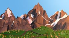 Low Poly Mountain | 3D low-poly mountain by cepsky