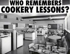 The home economics classroom! Oh gads --- I was not the best in this class! PE, music and history were my forte!