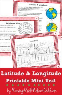 FREE Latitude and Longitude Printable Mini Unit
