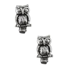 Jewel Exclusive Sterling Silver Owl Stud Earrings ($9.99) ❤ liked on Polyvore featuring jewelry, earrings, accessories, multi, special occasion jewelry, owl jewelry, owl earrings, holiday jewelry and evening jewelry