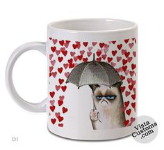 grumpy cat Love Umbrella, Coffee mug coffee, Mug tea, Design for mug, Ceramic, Awesome, Good, Amazing