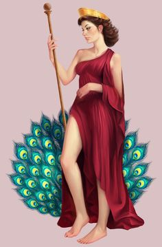 Hera Greek Goddess of married women and childbirth.. Married to Zeus.