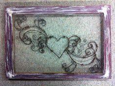 Jillian's Heart Rustic Art Window Hand by windowzofopportunity Barb Wire Crafts, Metal Crafts, Window Art, Window Glass, Window Ideas, Mur Diy, Barbed Wire Art, Antique Windows, Old Barn Wood