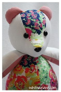 Learn how to add child safe eyes and noses on your memory bears with this step-by-step Whitney Sews tutorial!  #memorybear