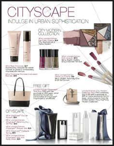 New Cityscape Collection by Mary Kay http://www.marykay.com/lisabarber68 Call or text 386-303-2400 or 832-823-1123