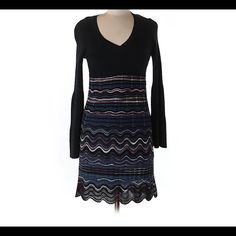 Missioni classic style sweater dress Classic Missoni style sweater dress. New without tags. 42 it approximately a U.S. Size 4. Has some stretch to it. Will need a slip underneath. length is 35 in and chest is 14 in. Ships within 1 week. Missoni Dresses Midi