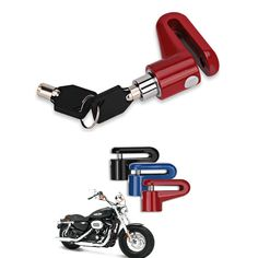 Material: Metal Type: Motorbike Disc Lock Security anti-theft lock universal for motorcycle, scooter, bicycle etc. It works by locking the disc brake. Click the lock cylinder, it will be locked. Motorcycle Cover, Bike Cover, Motorcycle Lights, Motorcycle Headlight, Motorcycle Wheels, Motorcycle Gear, Motocross Armor, Bicycle Disc Brakes, Motorbike Accessories