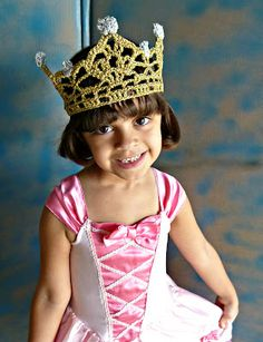 crochet - tiara - you just never know when you'll need one