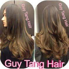 Cool caramelize ombré by Guy Tang #hairgasm #guytang #guy_tang #guytanghair #ombre #balayage #latinaombre
