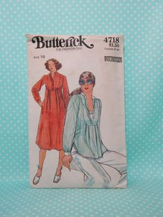 Caftan Style Pattern. Women's Vintage Caftan Pattern. Butterick 4718,   SOLD   Sz:16. Comfortable Top Pattern. Cut, Complete. Cheapest Shipping by FashionSew on Etsy