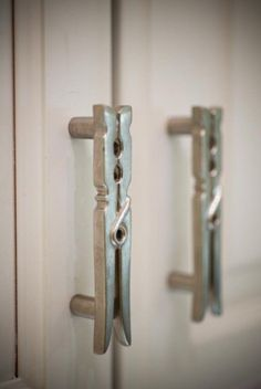 Laundry room cabinet handles