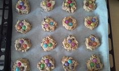 Home made smarties chocolate cookies
