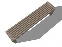 Modern Slat Top Outdoor Wood Bench - radiator covers?