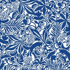 """Boråstapeter Fantasia Wallpaper by Hanna Werning """"Love the little foxes or wombats or whatever they are in the background"""""""