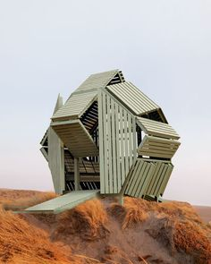 A mini convertible wooden house, named M-Velope, designed by Michael Jantzen (France) http://www.michaeljantzen.com/Welcome_2.html
