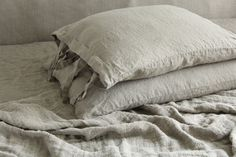 Linen  pillowcase  stonewashed  made by mooshop by mooshop on Etsy