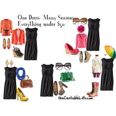 One dress, many ways. This is why you see me in the same clothes but I look different-it's all about the budget. ;)