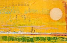 Hallelujah Morning - Psalm 5 is an acrylic and tissue paper collage by Virginia Wieringa from the Art + Psalms Exhibit featured at the 2012 ...