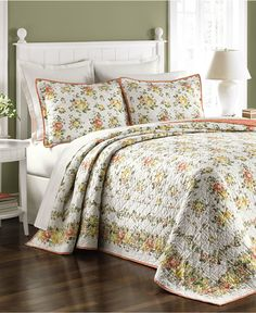 CLOSEOUT! Martha Stewart Collection Rose Cottage Bedspreads, Only at Macy's - Quilts & Bedspreads - Bed & Bath - Macy's