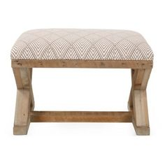 Check out this item at One Kings Lane! Butler Ottoman, Taupe/White