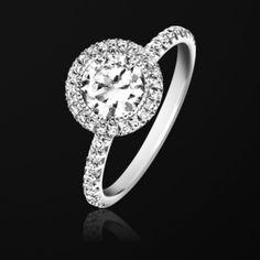 #Bague de fiançailles Platine Diamant - #Piaget Mariage #wedding