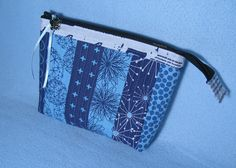 QAYG Zippered Pouch... make your own quilted fabric and turn it into a zippered bag ~ Threading my Way