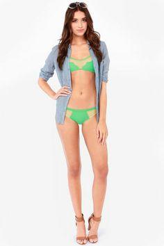 6ed3e19706f1c Mandalynn Piper Mesh Sea Green Bikini @ lulus.com Green Bikini, Sexy Bikini,