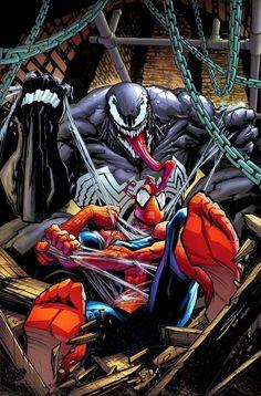 Marvel Venom, Marvel Art, Comic Books Art, Comic Art, Spiderman Pictures, Marvel Tattoos, Graphic Novel Art, Design Comics, Black Spider
