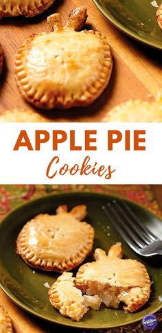 Apple Pie Cookies Recipe - You'll be the apple of someone's eye when you serve these apple-shaped apple pies at Thanksgiving dinner! These pies are so easy to make, using the Wilton Apple Cookie Cutter and your favorite pie dough and apple pie filling.