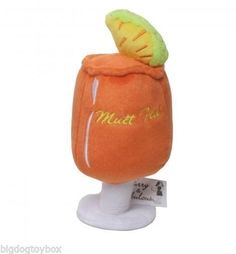 """Mai Tai """"Mutt Tai"""" for Pampered Pets Cocktails for Fido Plush Toy Gurgle Sound"""