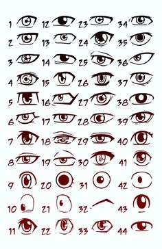 This is more anime eyes, but I like the study of expressions