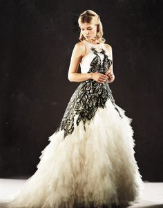 Fleur's wedding gown--I loved this so much. It's so beautiful!
