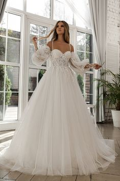 Cute Wedding Dress, Dream Wedding Dresses, Bridal Dresses, Wedding Dress Corset, Disney Wedding Dresses, Ball Gown Wedding Dresses, Detachable Wedding Dress, Wedding Gowns With Sleeves, Dream Wedding
