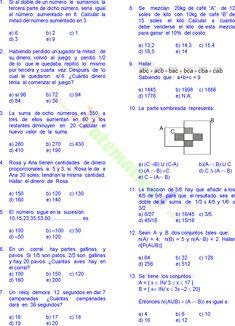 Rubiños Matematicas Problemas Resueltos De Quinto De Prima Matematica Ejercicios Problemas Matemáticos Matematicas