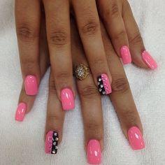 gorgeous neon nails