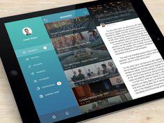 Dribbble - News Portal by Yaroslav Zubko #mobile #ui #ux #design #inspiration #navigation #app #interface #ios #android #flat