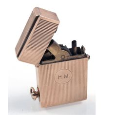 VERY RARE 14K goId Imperator lighter, cca1910, Louis Kuppenheim, sapphire