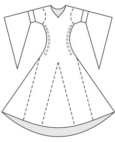 DRESS pattern bliaud - site has some good line drawings of shapes of different pieces Ward Ward Ward Ward James - I think we like this for you. Medieval Fashion, Medieval Clothing, Historical Clothing, Costume Patterns, Dress Patterns, Sewing Patterns, Barbie Clothes, Diy Clothes, Moda Medieval