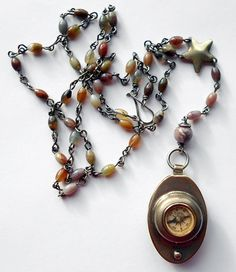 Between the Wars Compass Rosary by readbetweenlines on Etsy