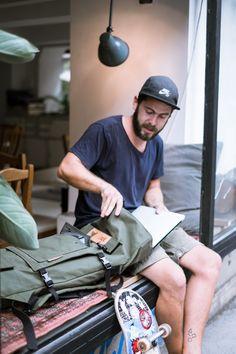 Scumbag - skateboard rolltop canvas backpack