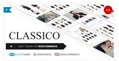 Buy Classico - Responsive WooCommerce WordPress Theme by on ThemeForest. Classico – responsive, Ecommerce theme with up-to-date mix of design and functionality, will turn your store into a . Themes Free, Cool Themes, Ecommerce Template, Psd Templates, Website Themes, Blogger Templates, Premium Wordpress Themes, Portfolio, Web Design